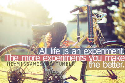 all life is an experiment the more experiments you make