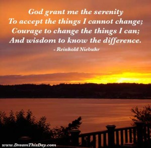 the serenity prayer god grant me the serenity to accept