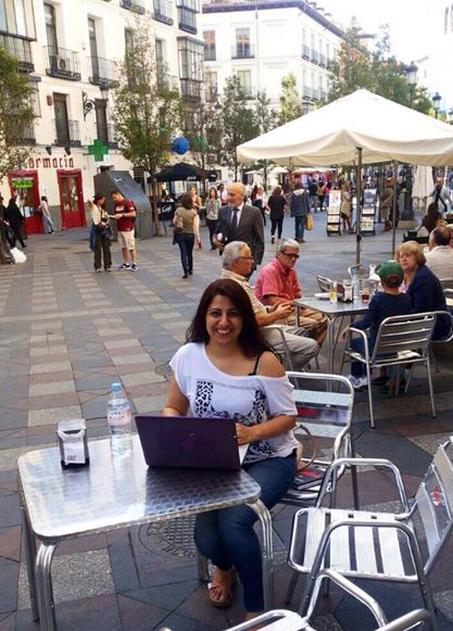 Hola, that's me writing this post in Espana!