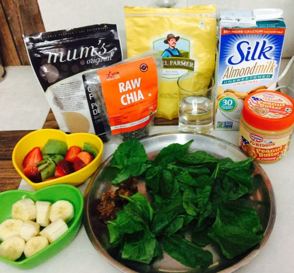 Yummy green smoothie ingredients
